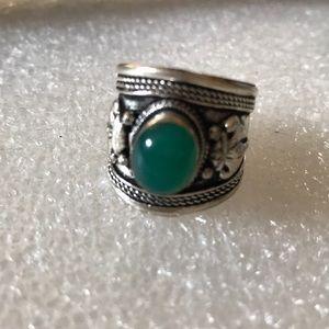 Vintage jade adjustable ring